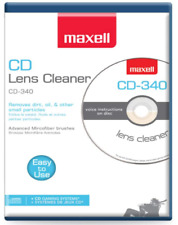 Maxell CD-340 cd-rom CD Lens Cleaner (cd340) (190048) [New, Sealed]