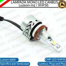 LAMPADA H8, H9, H11 6500K CANBUS 6000 LUMEN MONO LED MONOLED LENTICOLARE MOTO