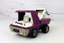 VINTAGE BUDDY L TOW TRUCK WRECKER Purple For Parts Or Repair ~ Made in Japan