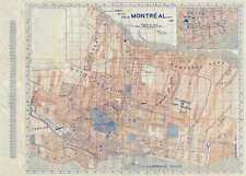1939 Furse Map or Plan of the City of Montreal, Quebec, Canada