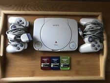 Sony Playstation PS One Video Game Console 2 Controllers 3 Memory Cards No Wires
