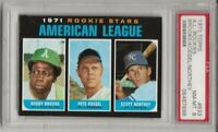 SET BREAK -1971 TOPPS #633 A.L ROOKIE STARS, PSA 8 NM-MT, BROOKS CENTERED L@@K !