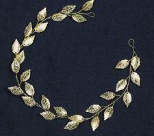 Accessoires cheveux cérémonie mariage headband cascade de feuilles dorées