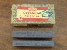 Vintage Unused (2) Norton Crystolon Oilstone CJT63 Coarse Cemented Carbide