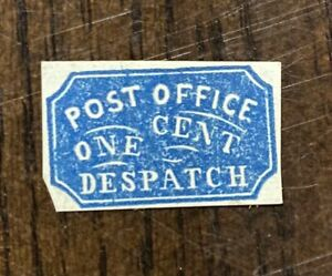 Vintage US Local/City Post Stamp, Post Office Despatch