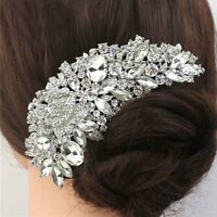Flower Crystal Rhinestone Bride Hair Comb Clip Pins Wedding Bridal Prom Party