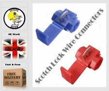 Scotchlock Type Wire Connectors Pack 5 Blue Quick Splice  UK Seller