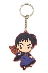 InuYasha Mascot Swing PVC Keychain Charm ~ SD Miroku @6992