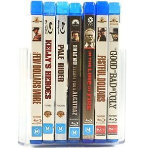 7 x Clint Eastwood Movie Bundle Western Action Blu Ray RB Good Condition
