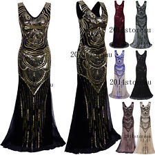 Cocktail Wedding Formal Evening Prom Dresses 1920s Flapper Gatsby Party Dress 20