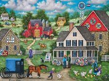 Jigsaw puzzle Landscape Village Life Johnny Ott's Hex Signs 500 piece NEW