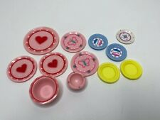Kitchen Littles Lot Of Plates Dishes And Bowls Dollhouse Tyco OSFT