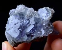 China / Newly DISCOVERED RARE PURPLE FLUORITE CRYSTAL MINERAL SPECIMEN 38g