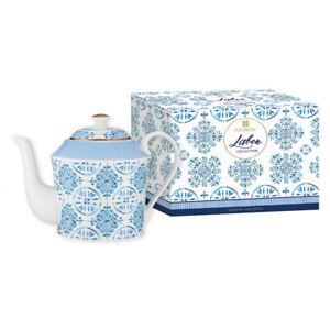 Ashdene Lisbon Infuser Teapot 600mL - Fine Bone China/Stainless Steel
