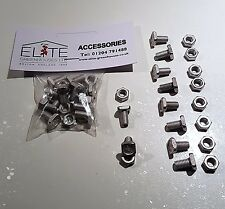 10 Elite Greenhouse Aluminium 11mm Square Head bolts & nuts - Rust Free