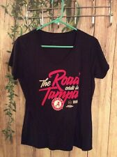 "Alabama Crimson Tide Women's NFL T-SHIRT ""The Road Ends In Tampa"" Black M"