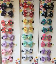 New Bow Hair Clip Lot, 24 pc Wholesale Lot  US Seller ❤️️����������