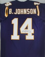 76e900c27 Minn Vikings BRAD JOHNSON Signed Custom Jersey AUTO - 1992-98