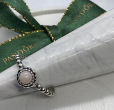 PANDORA OCTOBER BIRTHSTONE RING 190854P0P Size 56 Authentic Ale