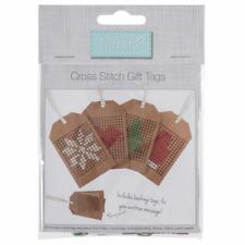 Trimits Cross Stitch Kit: Christmas Kraft Tags: 4 Pieces