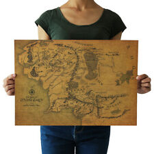 Lord Of The Rings The Hobbit Map Middle-earth Movie Posters Ancient Navigation