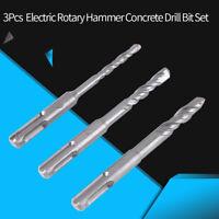 3Pcs Hammer Concrete Drill Bit Set Straight Shank Drilling Tool Free Shipping