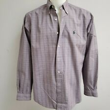Ralph Lauren Classic Fit Plaid Shirt Size 16.5 L Button Down Collar