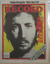 RECORD MAG Vol.1 #10 Pete Townshend: Sects, Drugs, Rock & Roll 1982