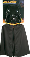 Morris Costumes Darth Vader Front Face Mask And Cape Black One Size. RU1198