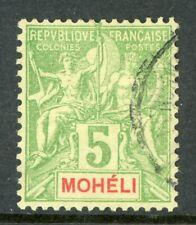 Moheli 1892 French Colony 5¢ Scott #4 VFU H552