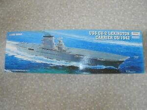 Trumpeter 05608, 1:350  USS Aircarft carrier Lexington kit. NEW old stock. Boxed