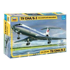 Zvezda Model Kit 7007 Civil airliner Tu-134A/B-3, scale 1/144