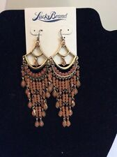 Lucky Brand Gold-Tone Orange Carnelian Chandelier Earrings $ 45 316a