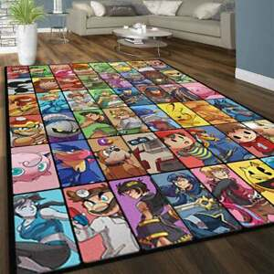 Retro Video Game Heroes Rug, Game Collection , Arcade Game, Video game Rug