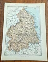 circa 1880s map of northumberland !  ( adam & charles black )