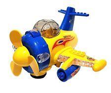 Kinder Spielzeug Verkehrsmodell Flugzeug Air Plane Selbstfahrend LED Licht Sound