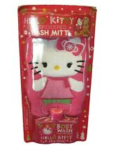 Hello Kitty Embroidered Body Mitt with Cotton Candy Scented Body Wash
