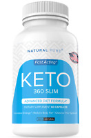 Keto 360 Slim Weight Loss Pills Diet Supplement Ultra Fast Fat Burn 800 MG