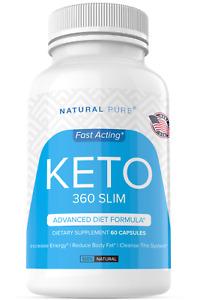 Keto 360 Slim Weight Loss Pills Diet Supplement Ultra Fast Fat Burn 800 MG