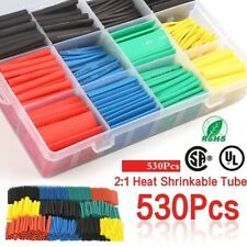 530pcs 5 Color Polypropylene Heat Shrinkable Cable Tube Heat Shrinkable Tube Kit