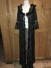 Vintage Lined Black Lace Robe By Intime Glamour