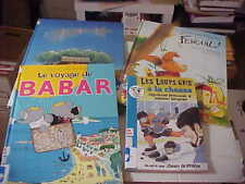 Lot of 4 Children's Books in French Babar ++ Very good ex-library