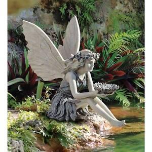 "The Sunflower Fairy Two-Tone Finish Design Toscano Exclusive 19½"" Garden Statue"
