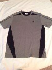 Men's Fila Sport Polyester Tshirt Gray Black MED NWOT