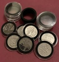 30mm Clear Holder Capsule+ Insert foam for 10p A to Z Collection coin (NO COIN)