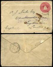 BRITISH GUIANA 1915 STATIONERY 2c to LEYTONSTONE GB