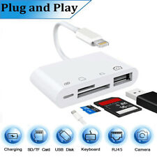 Lightning to USB OTG TF SD Card Reader 4 in 1 Camera Adapter for iPad Pro iPhone