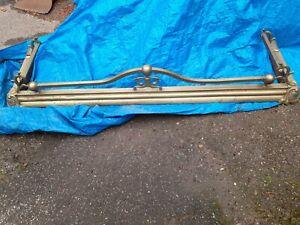 Antique Brass Fender Victorian Art Nouveau Style  Old Vintage. 132cm x36cm x20cm