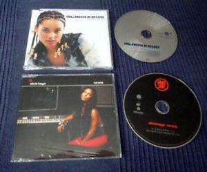 2 CD singles Alicia Keys FALLIN' (5 Track + Video 2001) & NO ONE (2 Track 2007)