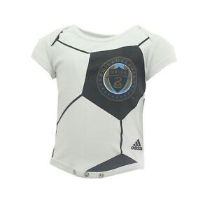 MLS Adidas Philadelphia Union Soccer Baby Infant Sleepwear Creeper New With Tag